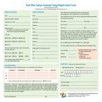 Summer Camp Registration Form   2 Free Templates In Pdf, Word, Excel   Free Printable Summer Camp Registration Forms