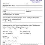 Summer Camp Registration Form Template Free   Form : Resume Examples   Free Printable Summer Camp Registration Forms
