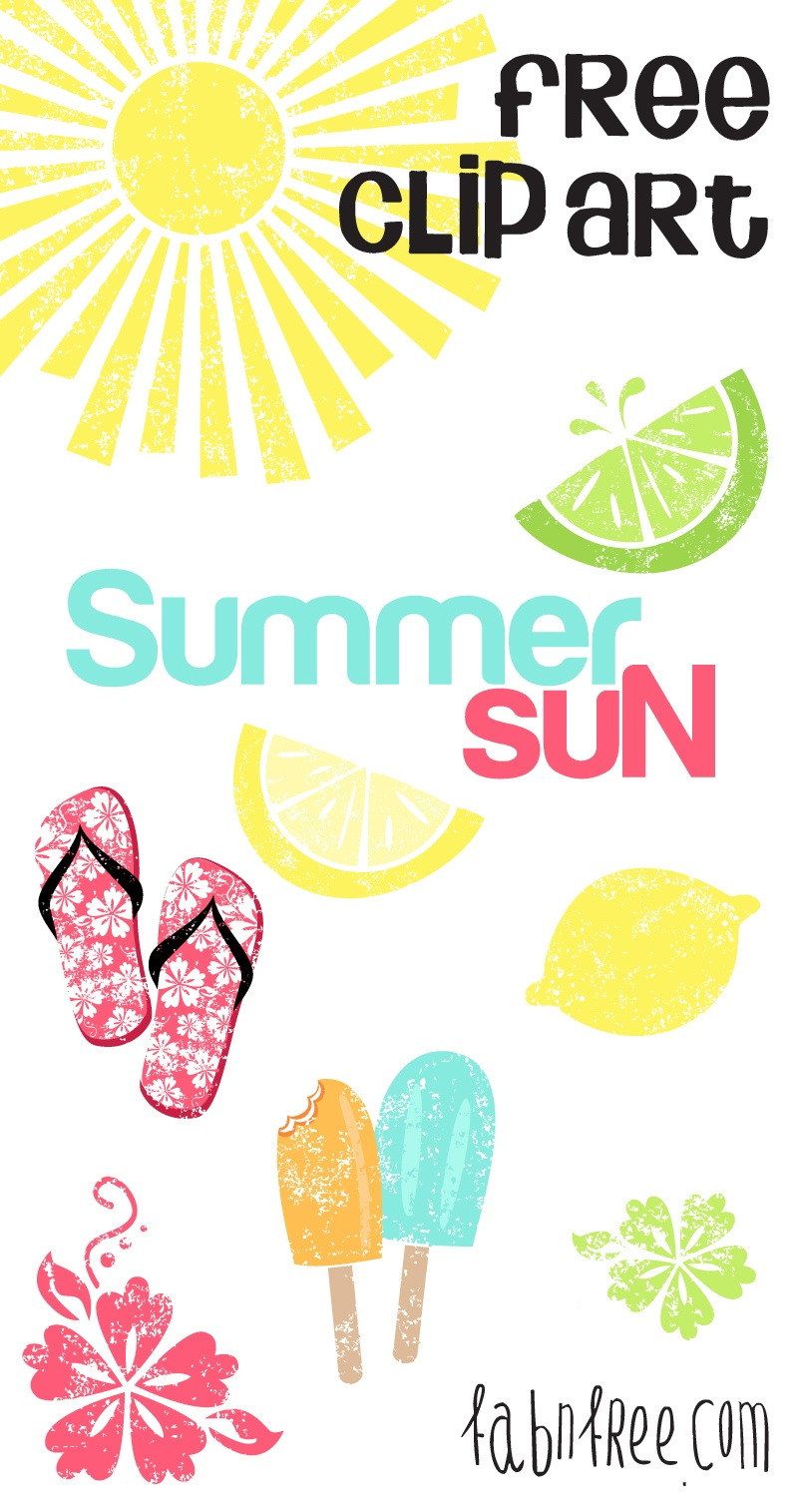 Summer // Free Clip Art Set And Journaling Cards | Fab N' Free - Free Printable Summer Clip Art