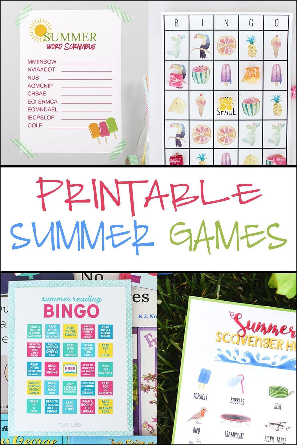 Summer Word Scramble | Crafting Chicks Community Board | Reading - Free Printable Summer Games