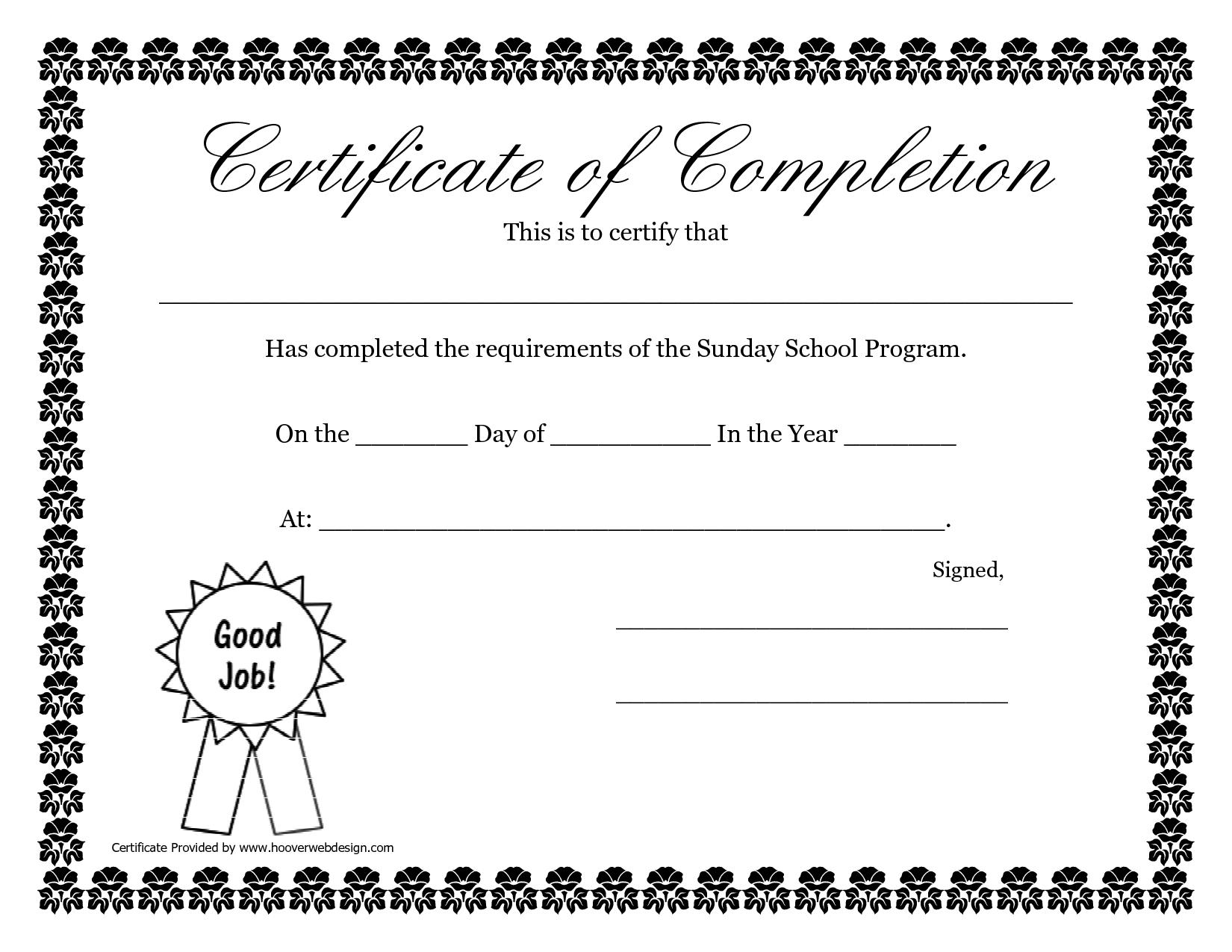 Sunday School Promotion Day Certificates | Sunday School Certificate - Free Printable Children's Certificates Templates