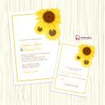Sunflower Wedding Invitation + Rsvp Templates ← Wedding Invitation   Free Printable Sunflower Template