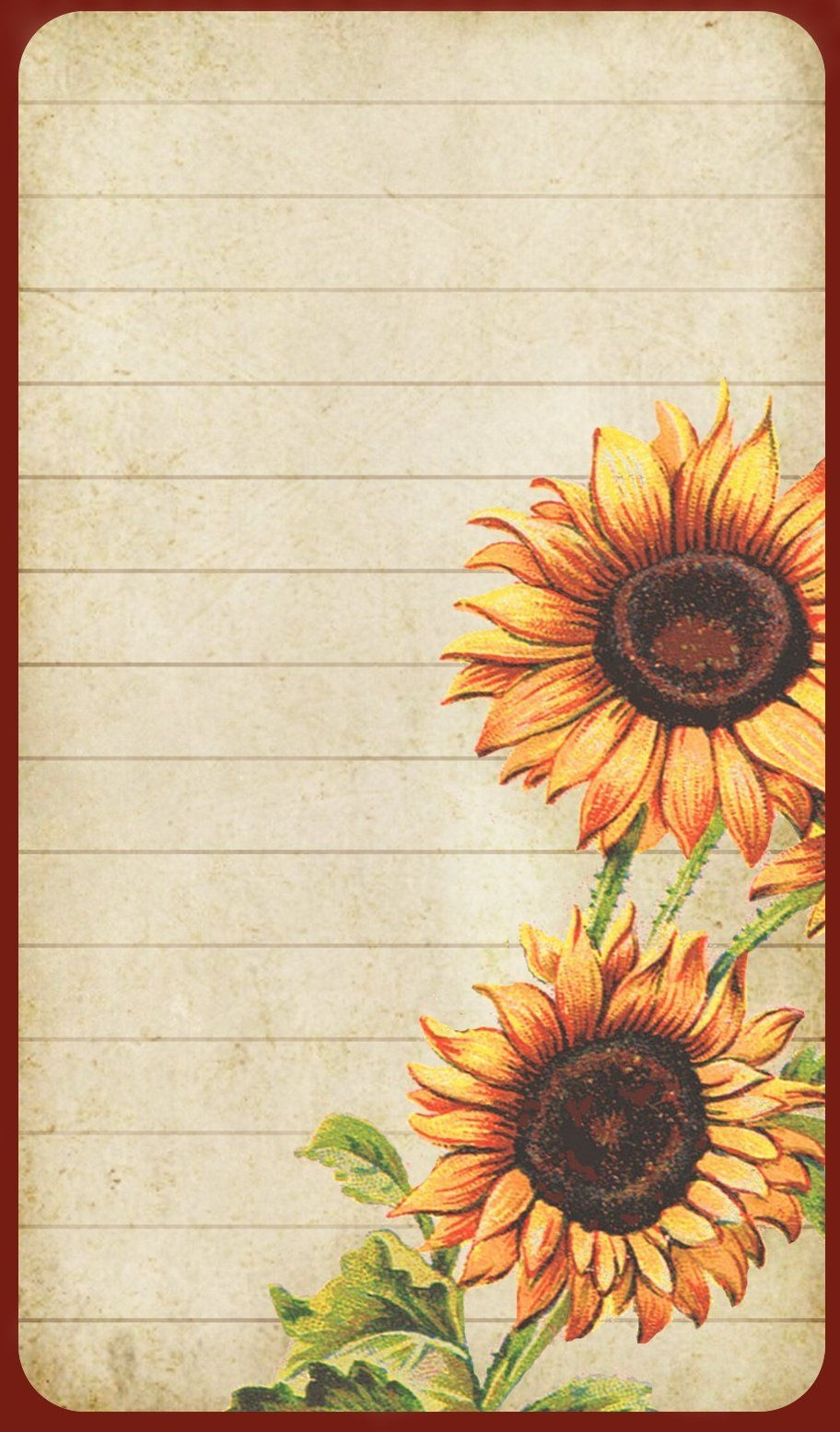 Sunflowers: Free Printable Labels, Recipe Card, Note Paper, Etc - Free Printable Sunflower Stationery