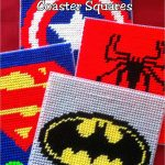 Super Hero Coaster Plastic Canvas Pattern. Maybe Make A Box Out Of   Printable Plastic Canvas Patterns Free Online
