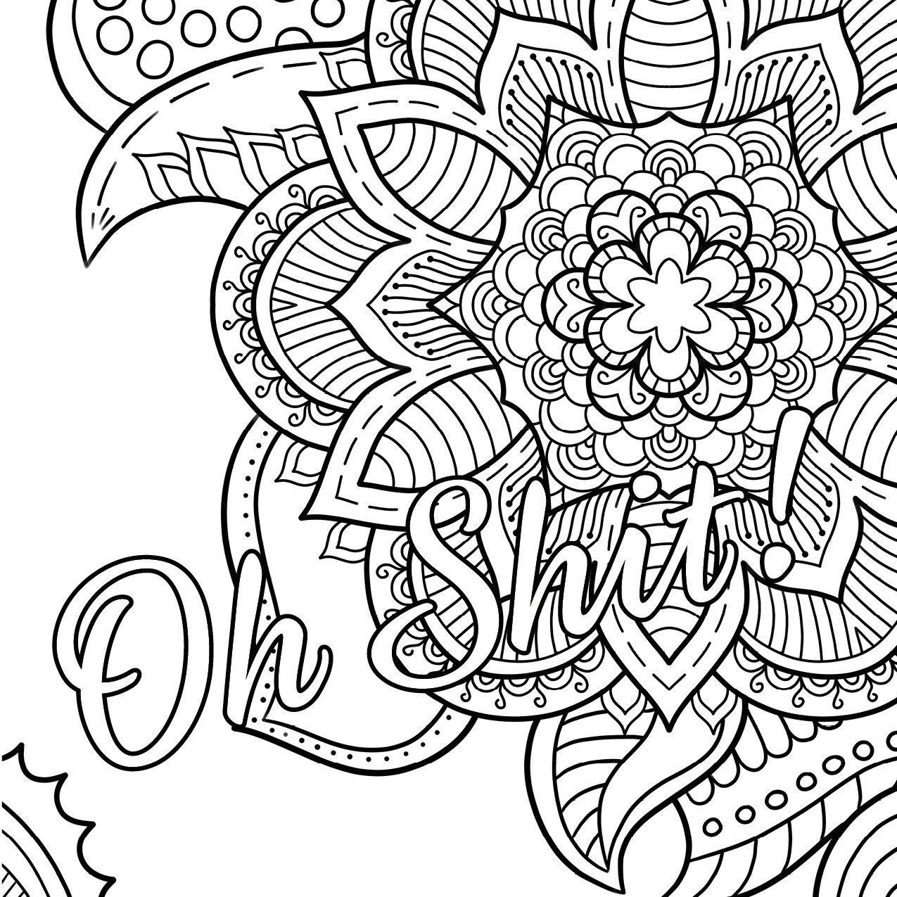 Swear Word Coloring Book #2 Free Printable Coloring Pages For Adults - Free Printable Coloring Pages For Adults Only Swear Words