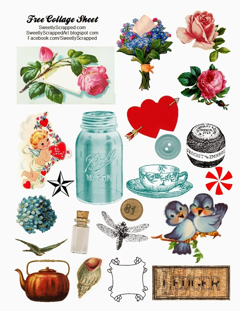 Sweetly Scrapped: Free Digital Collage Sheet - Free Printable Picture Collage