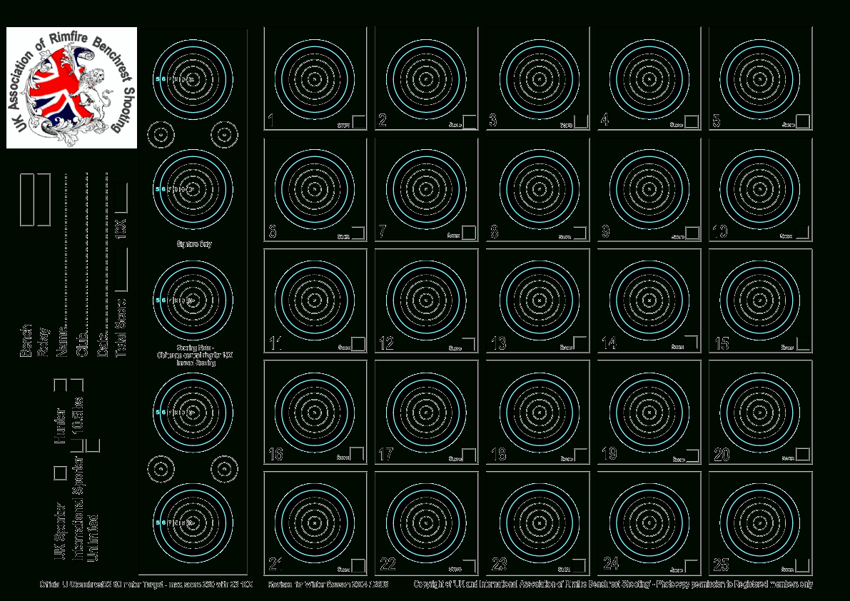 Targets For Download And Printing Within Accurateshooter - Free Printable Targets