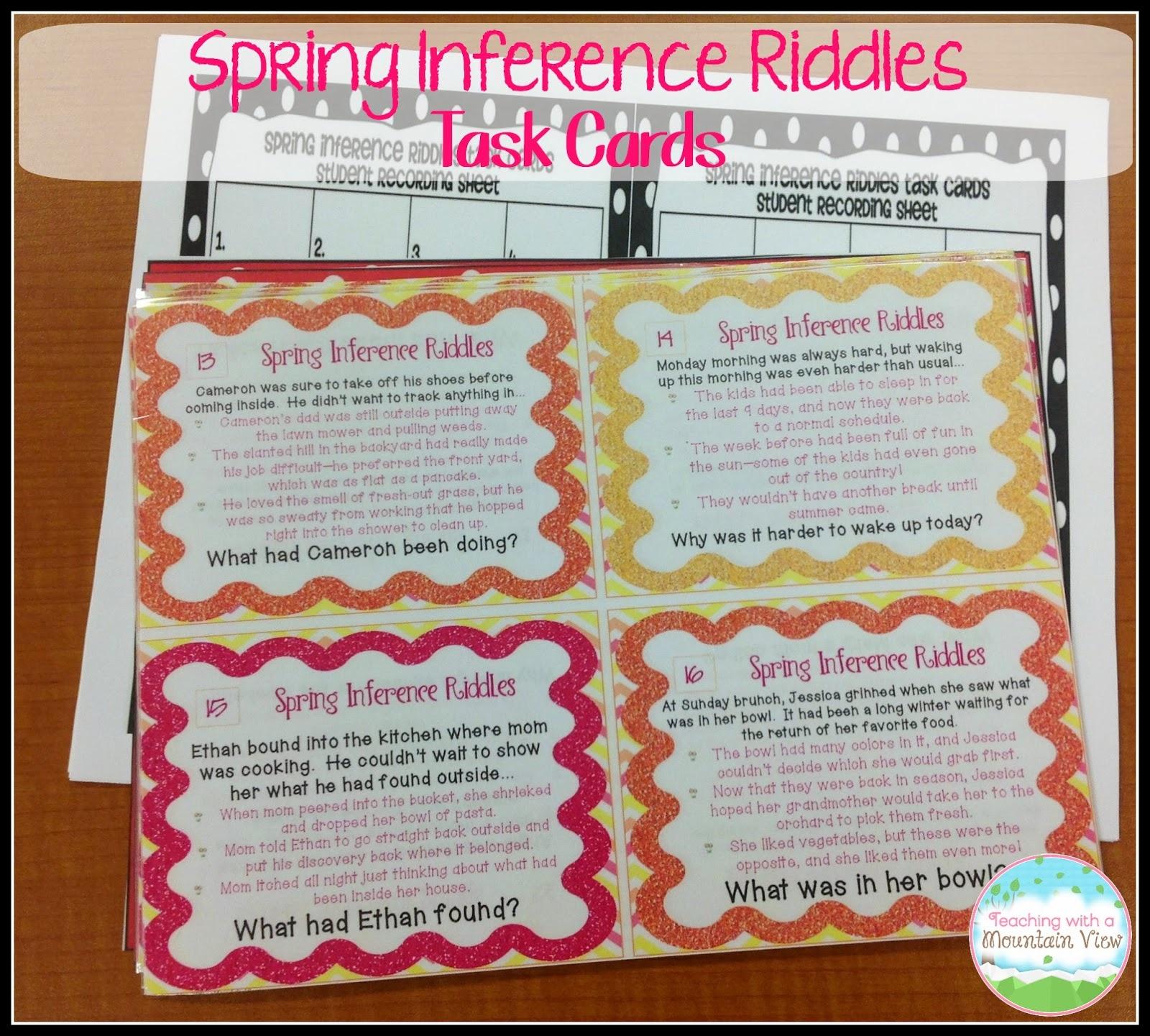 Task Card Corner: Student Created Task Cards For Assessment - Free Printable Kindergarten Task Cards