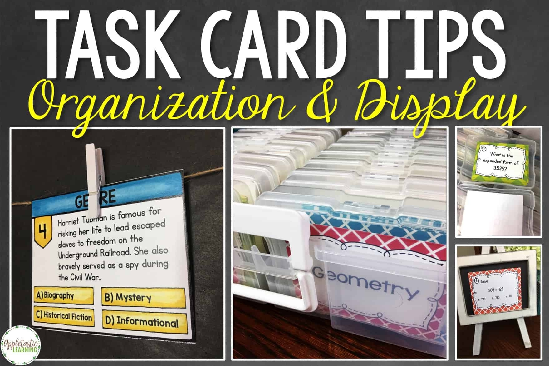 Task Card Organization Tips With Free Task Card Labels - Appletastic - Free Printable Blank Task Cards