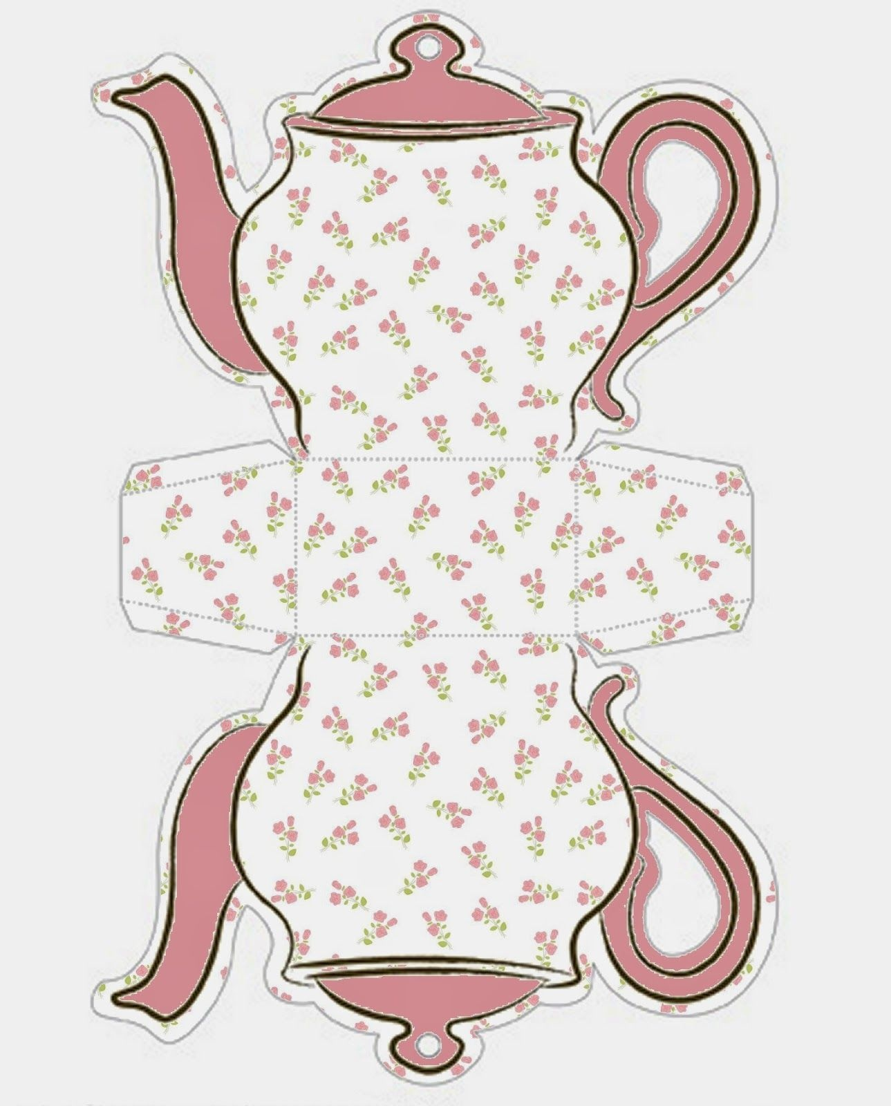 Tea Cup Template Free Printable | Shabby Chic Teapot Free Printable - Free Teapot Printable
