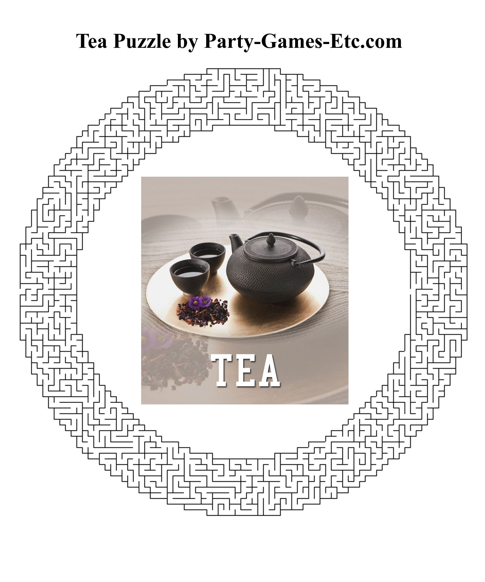Tea Party Games, Free Printable Games And Activities For A Theme - Free Printable Tea Party Games