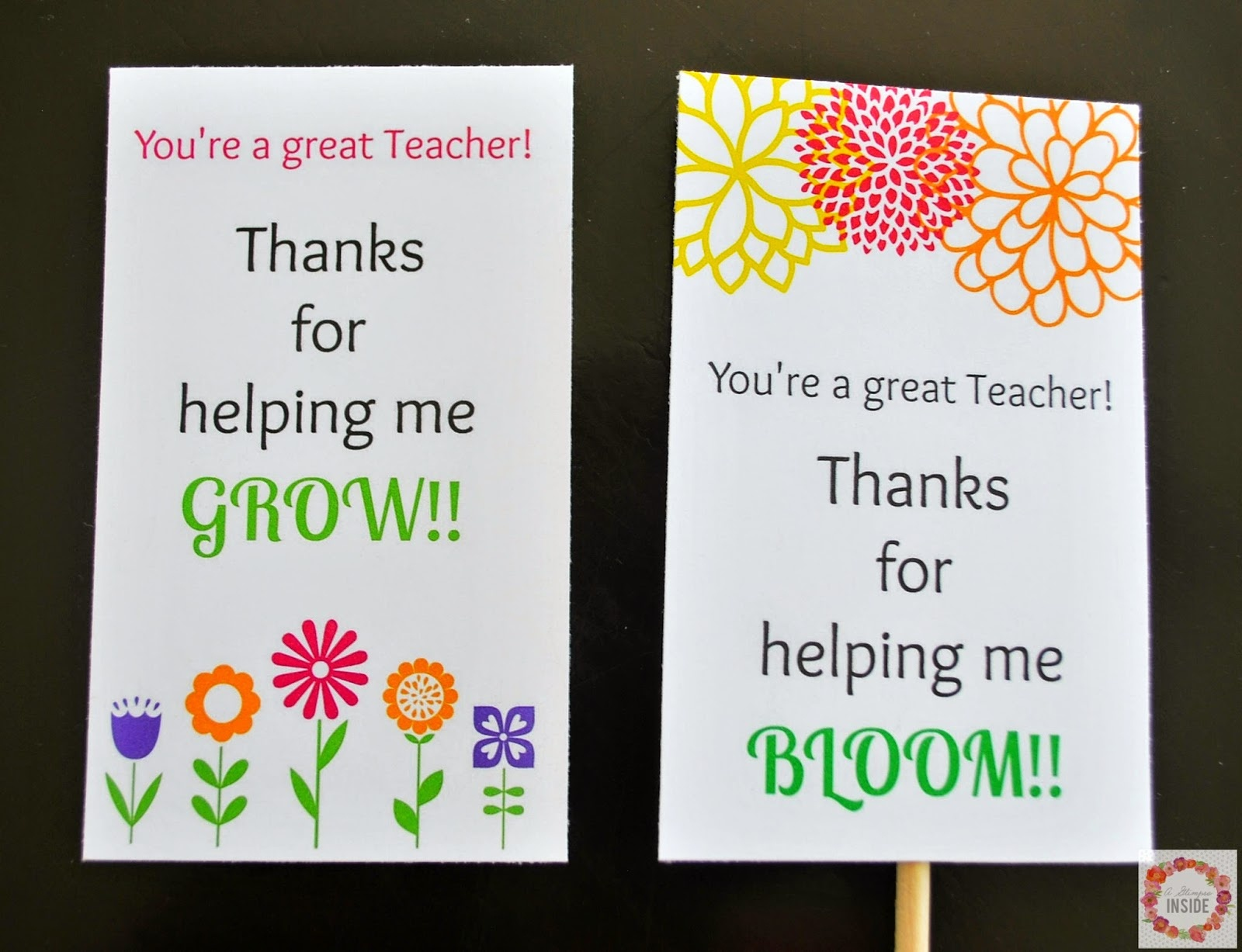 Teacher Appreciation Card Printables | A Glimpse Inside - Free Printable Teacher Appreciation Greeting Cards