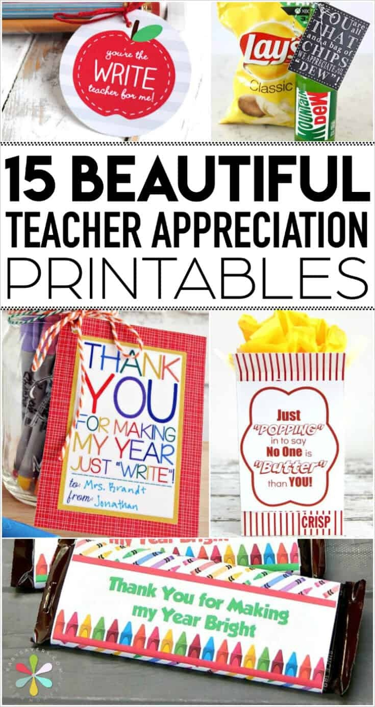 Teacher Appreciation Printables: Fun Free Tags For Teacher Gifts! - Free Popcorn Teacher Appreciation Printable