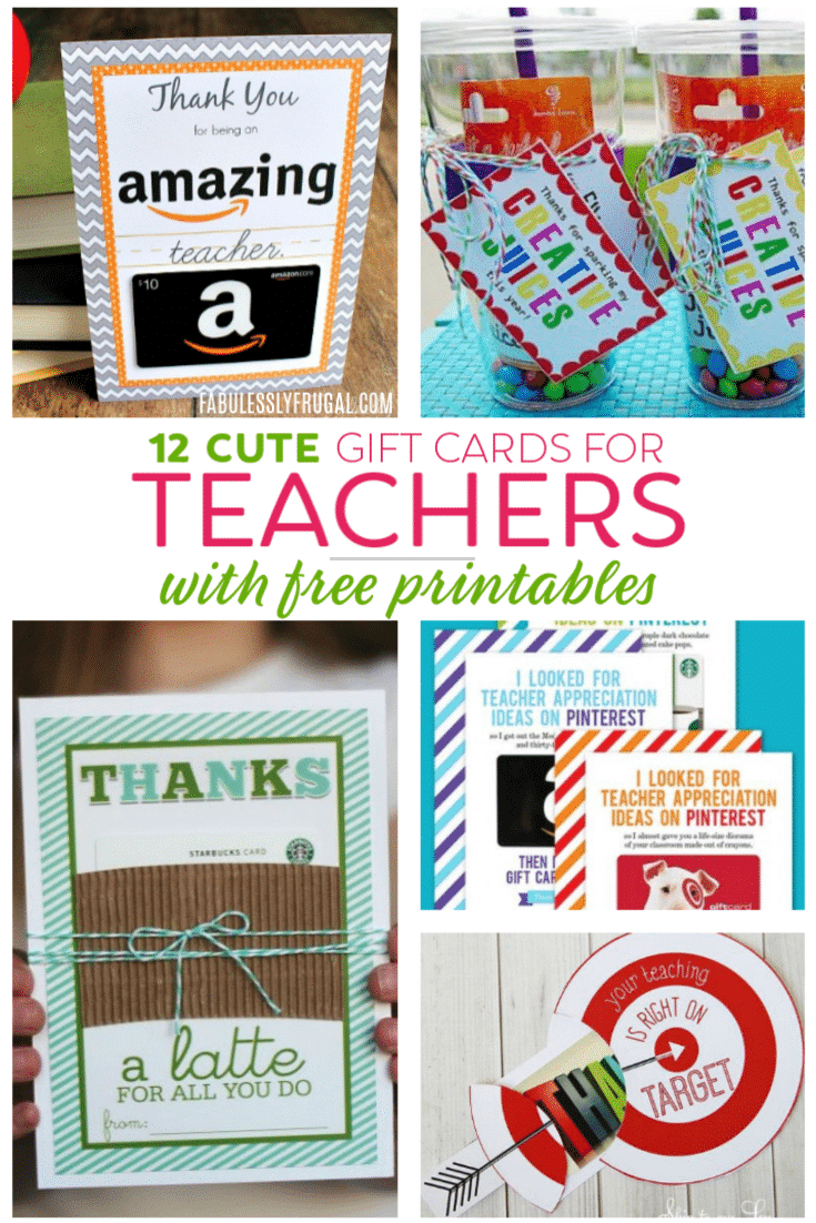 Teacher Gift Card Ideas & Gift Card Holder Printables - Fabulessly - Free Printable Teacher Appreciation Cards