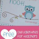 Teacher Mama: Free Printable Owl Valentines For Teachers   Boy Mama   Free Printable Owl Valentine Cards