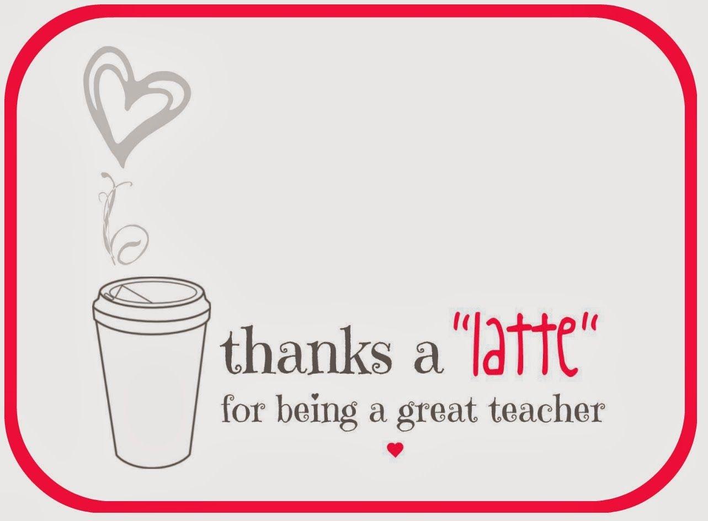 Teacher Valentine Free Printable Via A Lo And Behold Life | Teacher - Thanks A Latte Free Printable