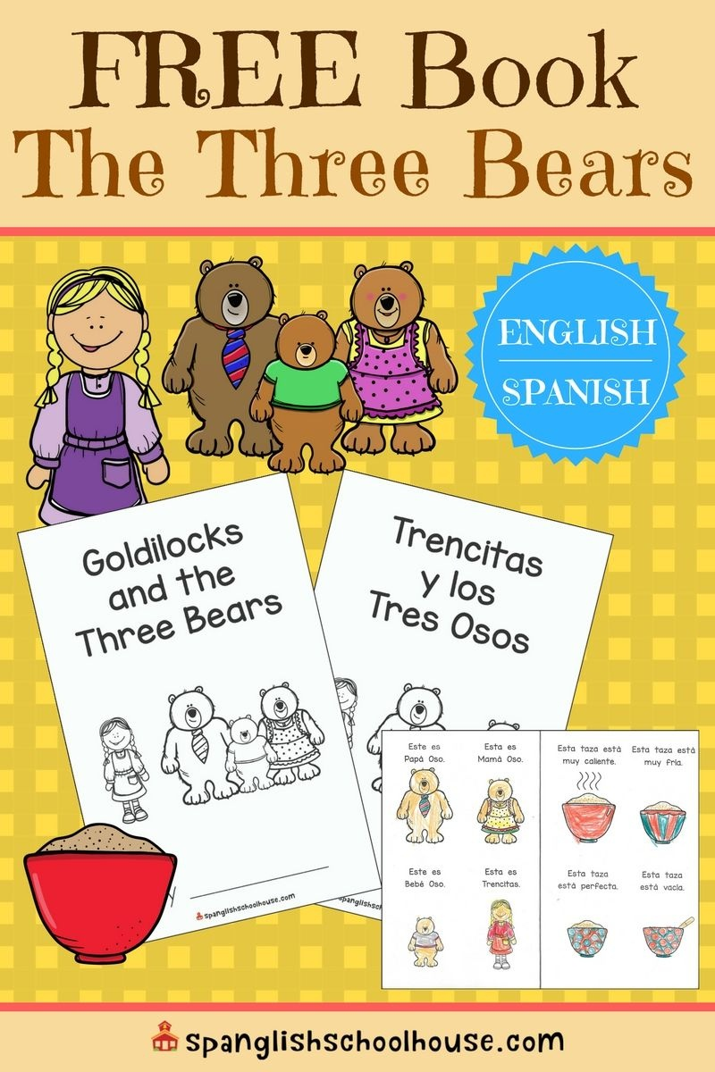 Teaching Kindness With Goldilocks {And Free Three Bears Book} | Prek - Free Printable Spanish Books