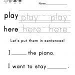 Teaching Sight Words Worksheet   Free Kindergarten English Worksheet   Free Printable Sight Word Worksheets