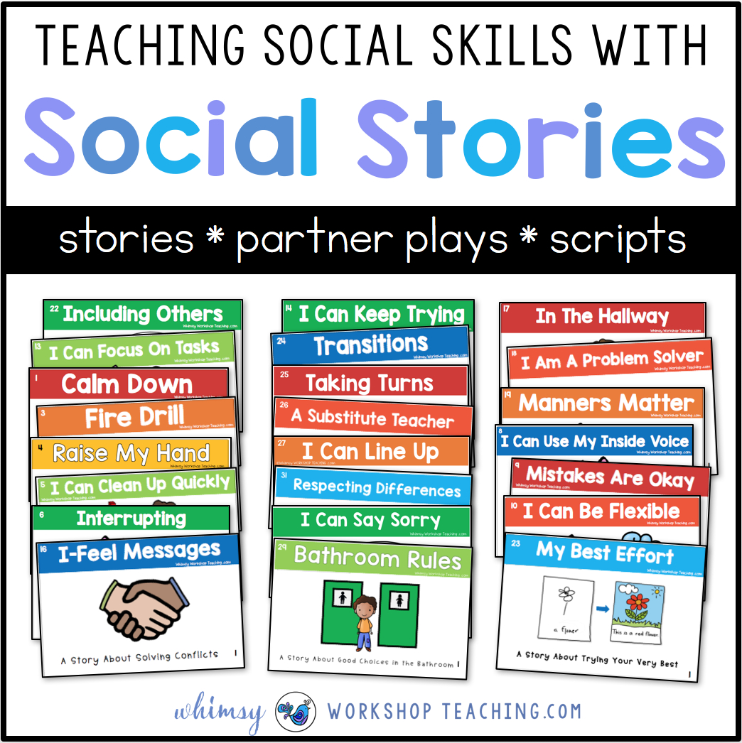 Teaching Social Skills With Social Stories - Whimsy Workshop Teaching - Free Printable Social Stories Making Friends