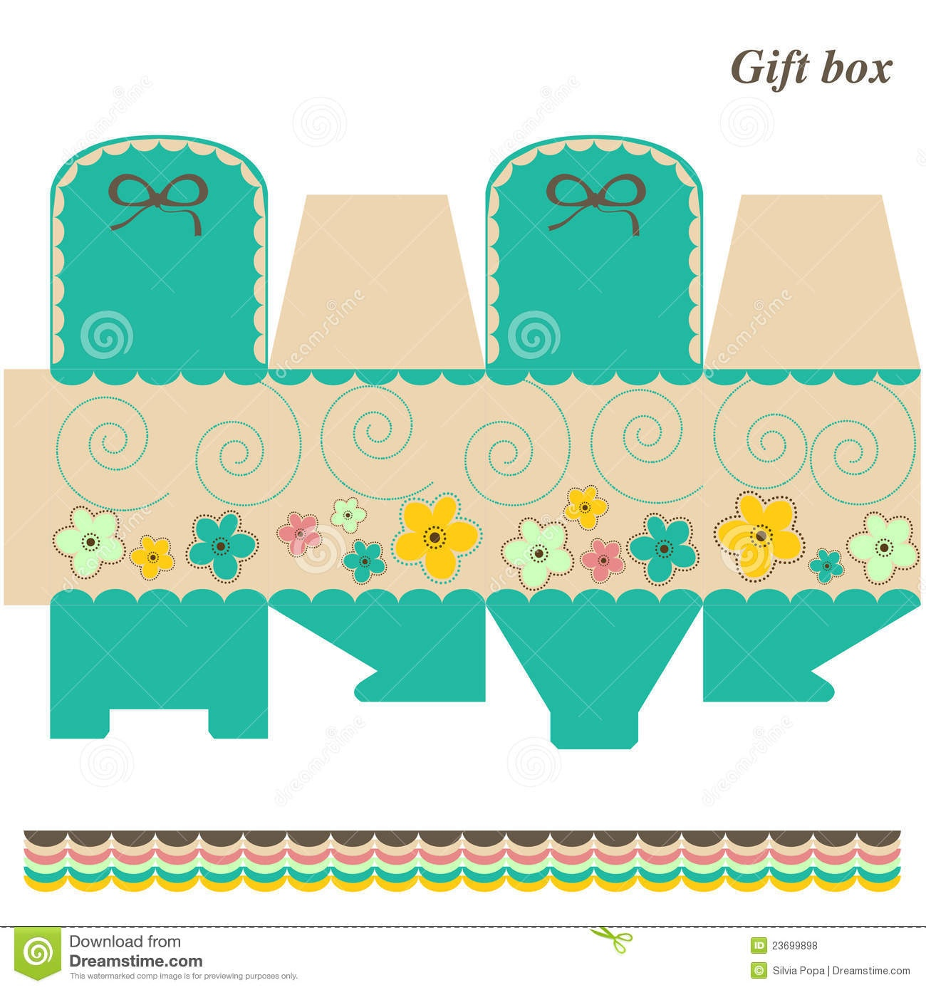 Template Box - Gift Or Candy Stock Vector - Illustration Of Nature - Printable Box Templates Free Download