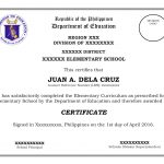 Template For Grade 6 Elementary Certificates   Free Printable Award Certificates For Elementary Students