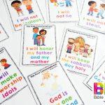 Ten Commandments For Kids   Free Catholic Ten Commandments Printable