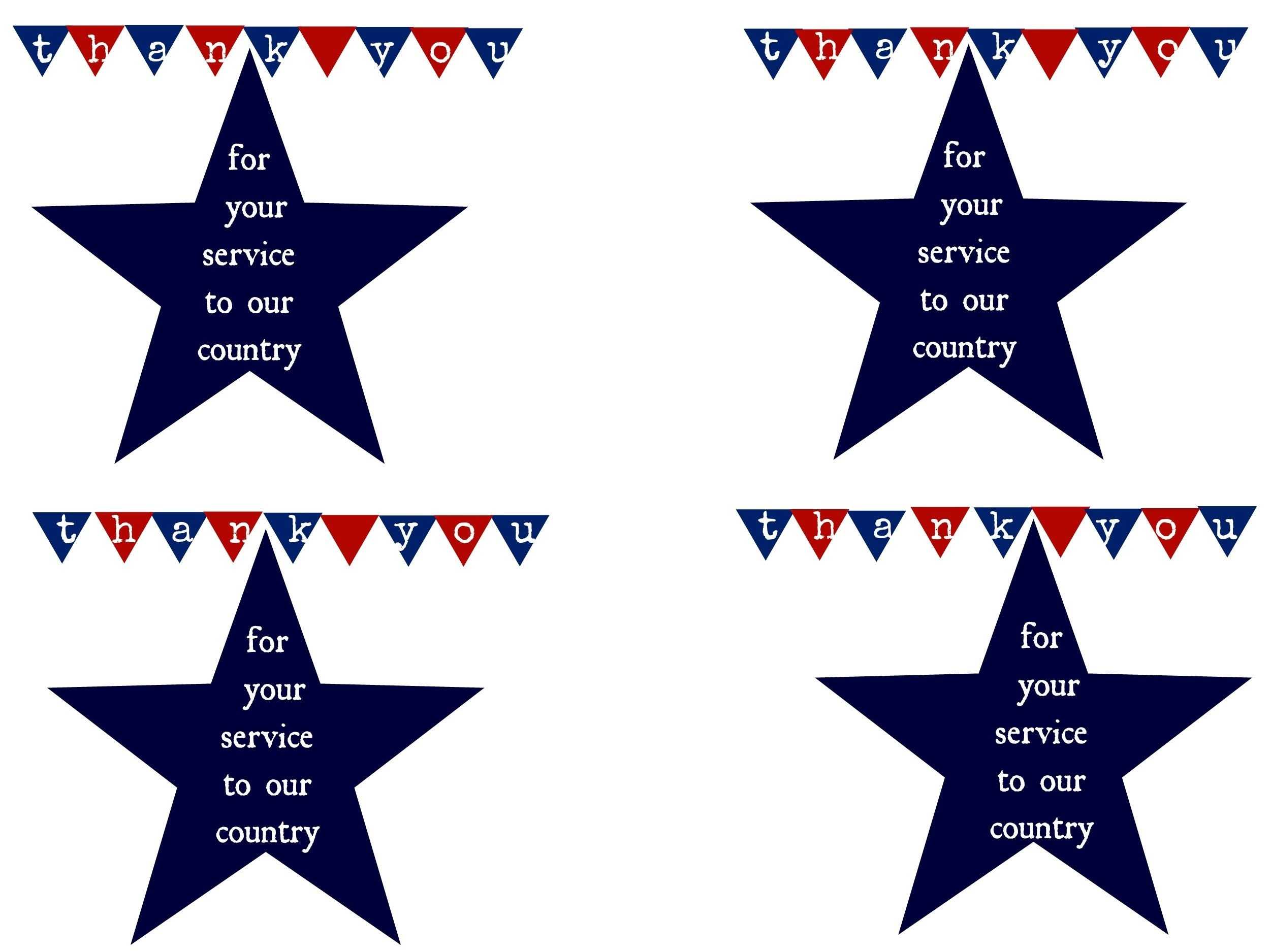 Thank A Hero And Printable   Military   Honor Flight, Veterans Day - Military Thank You Cards Free Printable
