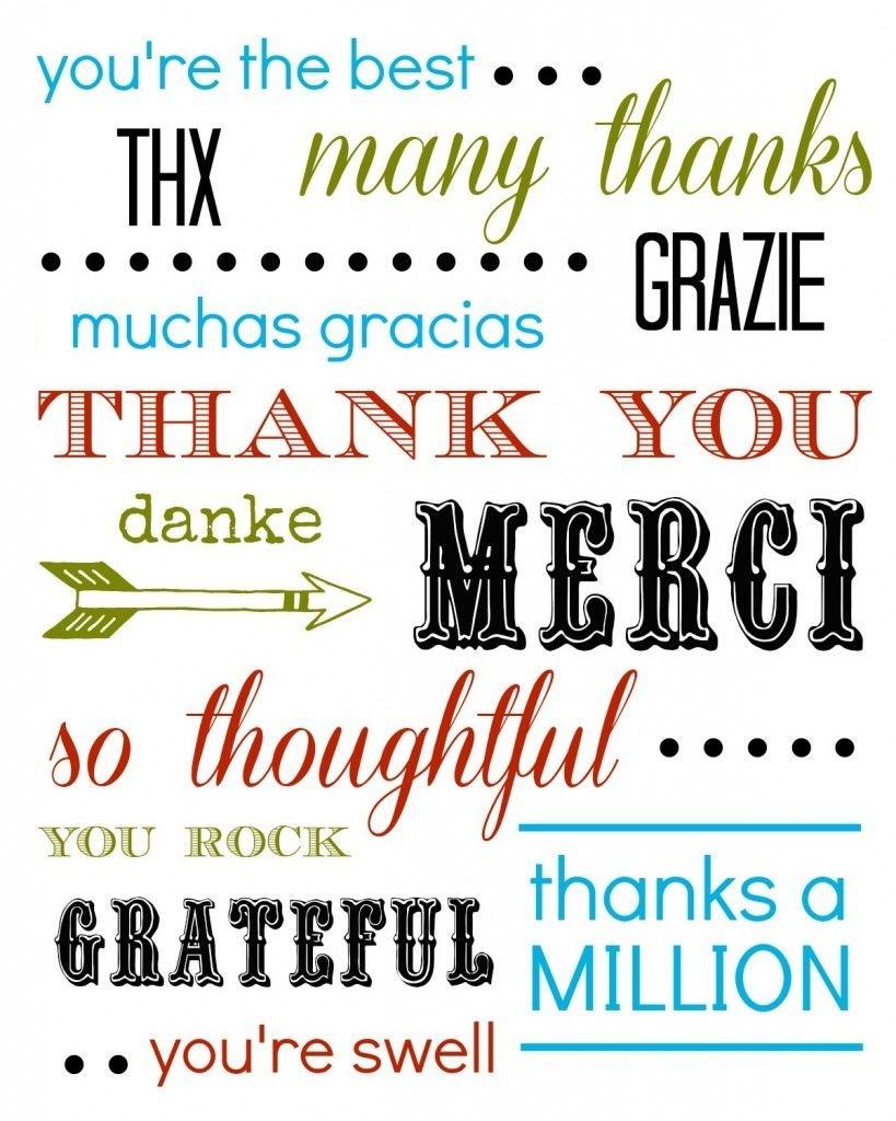 Thank You Card Free Printable | Diy Ideas | Thank You Cards - Free Printable Snap Cards