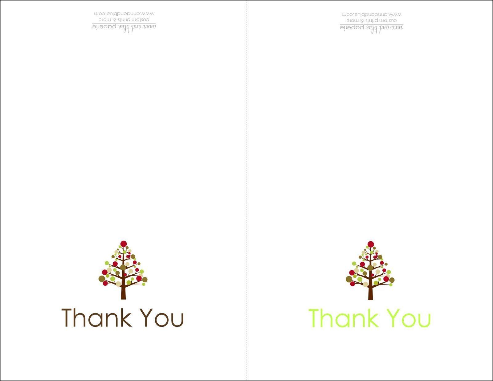 Thank You Cards Printable | Printable | Free Printable Christmas - Free Printable Custom Thank You Cards