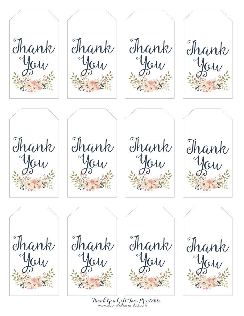 Thank You Gift Tags | Baby Girl Party Ideas | Thank You Tag - Free Printable Thank You Tags Template
