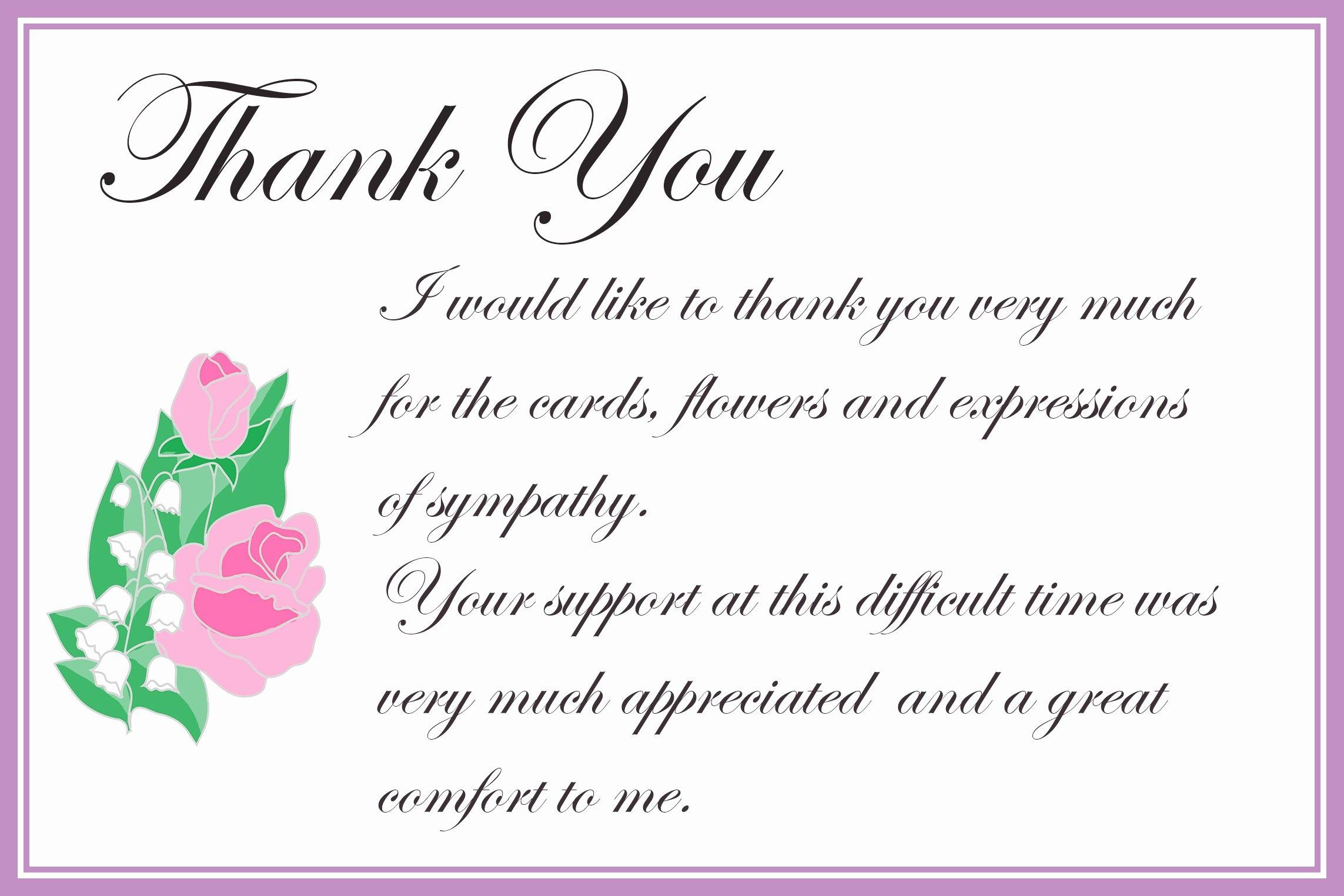 Thank You Quotes For Condolences | Collegiosanlorenzo - Thank You Sympathy Cards Free Printable