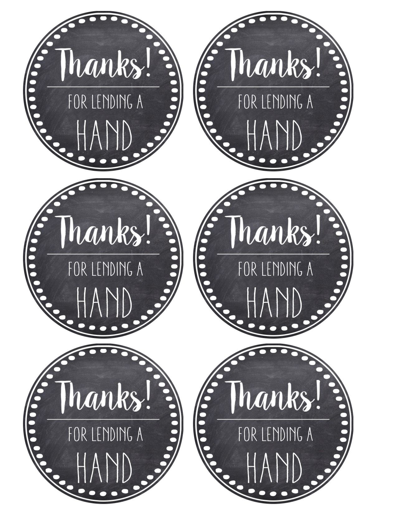 Thank You & Teacher Appreciation Tags Free Printable | Products I - Free Printable Volunteer Thank You Cards