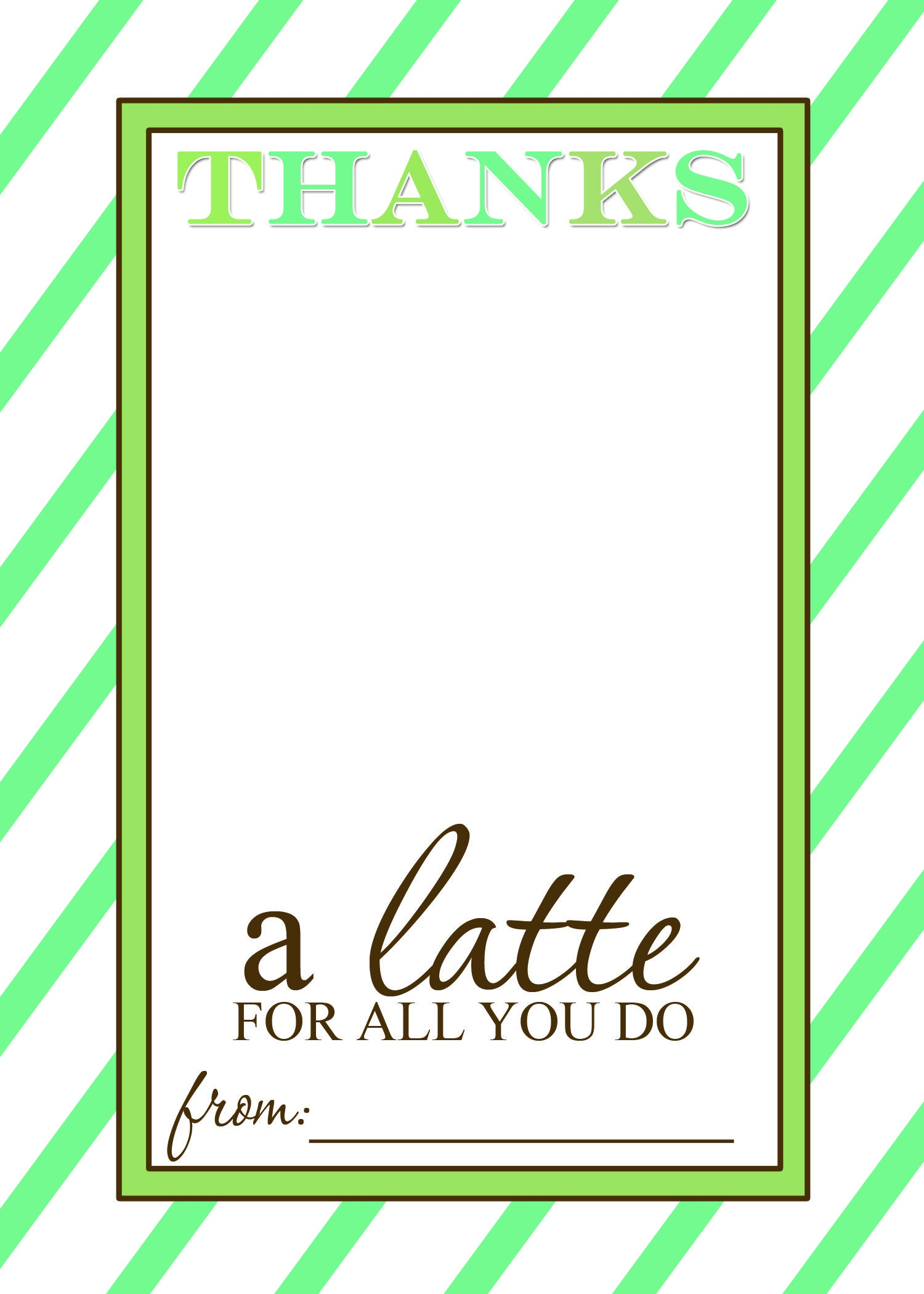 Thanks A Latte Free Printable Gift Card Holder Teacher Gift | Craft - Thanks A Latte Free Printable Card