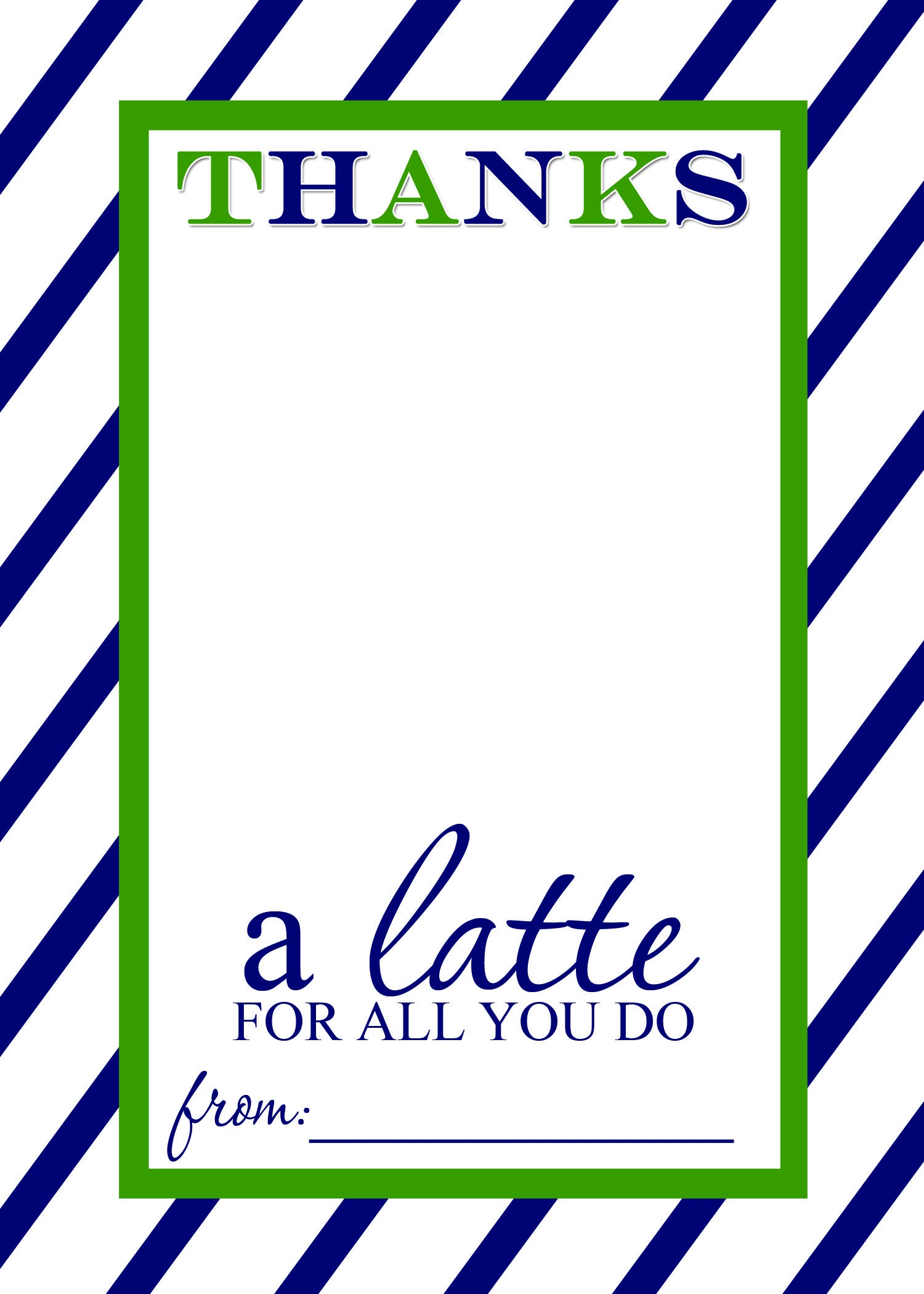 Thanks A Latte Free Printable Gift Card Holder Teacher Gift | Las - Thanks A Latte Free Printable