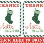 Thanks A Latte Free Printable   Thanks A Latte Free Printable