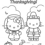 Thanksgiving Color Pages Hello Kitty Thanksgiving Coloring Page Free   Free Printable Thanksgiving Coloring Pages