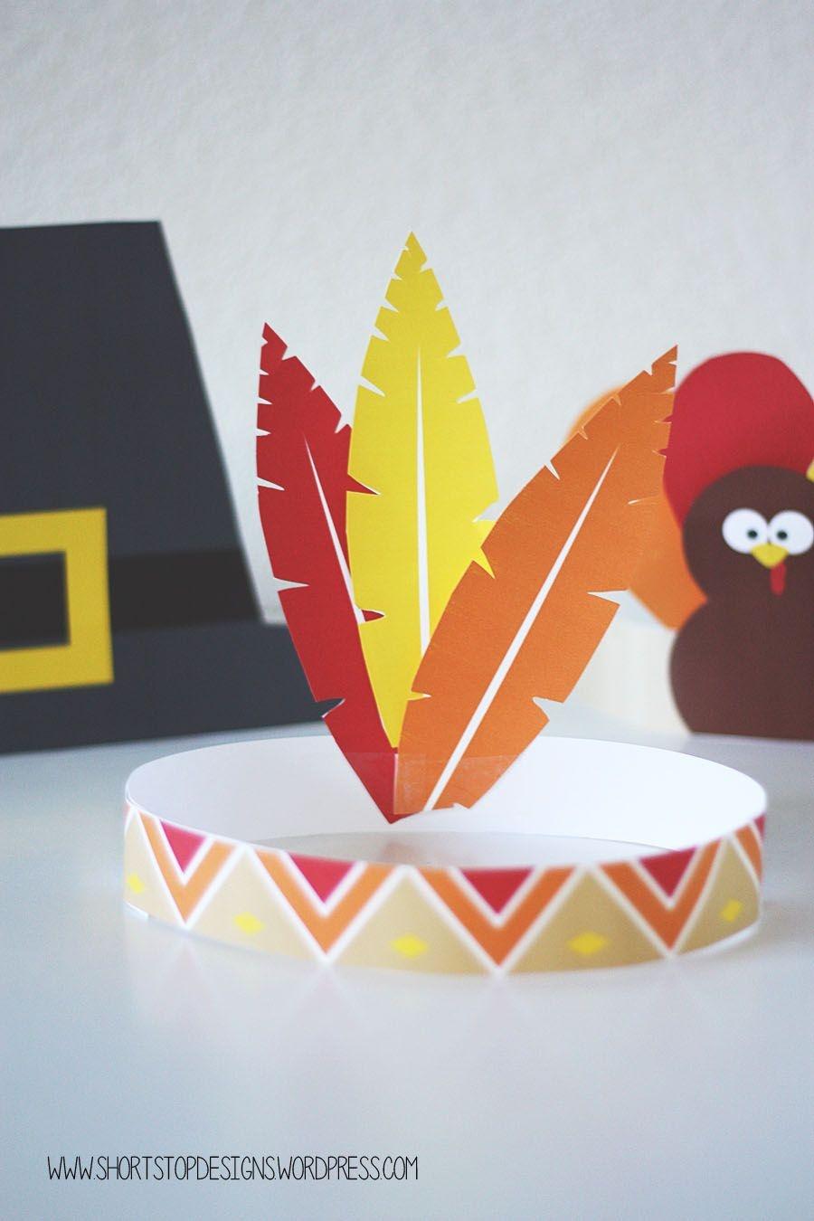 Thanksgiving Kids Hats – Free Printables   Printable   Kids Hats - Free Printable Thanksgiving Hats