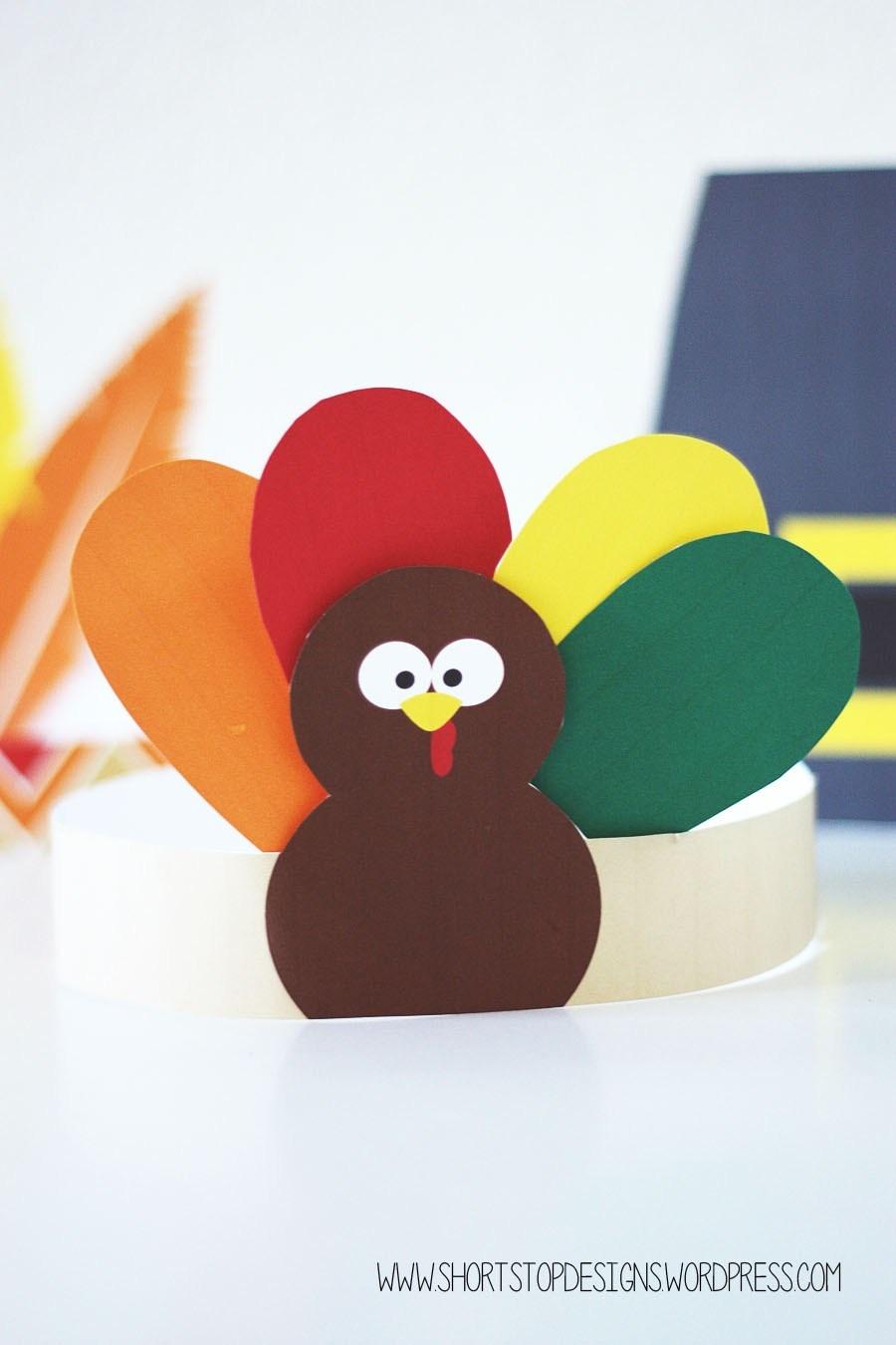 Thanksgiving Kids Hats – Free Printables – Short Stop Designs - Free Printable Thanksgiving Hats