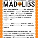 Thanksgiving Mad Libs Printable Game   Happiness Is Homemade   Thanksgiving Games Printable Free