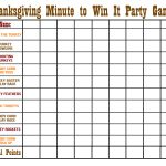 Thanksgiving Minute To Win It Games   Happiness Is Homemade   Thanksgiving Games Printable Free