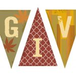 Thanksgiving Printable Banners – Happy Easter & Thanksgiving 2018   Free Printable Happy Thanksgiving Banner