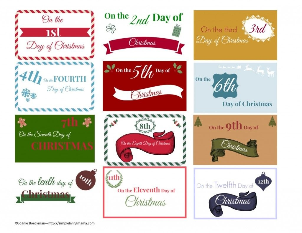 The 12 Days Of Christmas Ideas + Printable Gift Tags | Boyfriends - Free Printable 12 Days Of Christmas Gift Tags