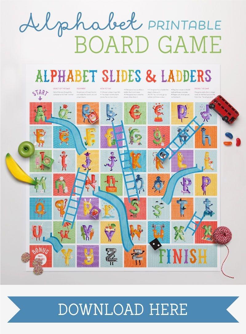 The Amazing Alphabet Printables & Storybook | Teaching The Alphabet - Free Printable Alphabet Board Games