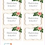 The Beautiful Wedding Favor Tags As Our Identity: Free Printable   Free Printable Wedding Favor Tags