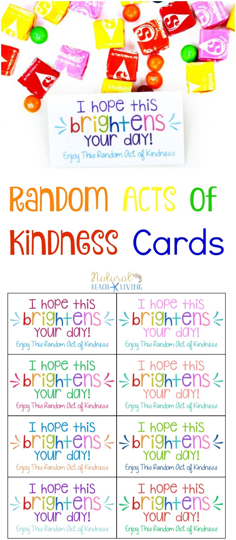 The Best Random Acts Of Kindness Printable Cards Free - Natural - Free Printable Kindness Cards