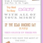 The Clothespin Baby Shower Game   Free Printable Templates For Baby Shower Games