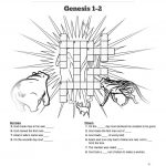 The Creation Story Sunday School Crossword Puzzle: Search For Clues   Free Printable Sunday School Crossword Puzzles
