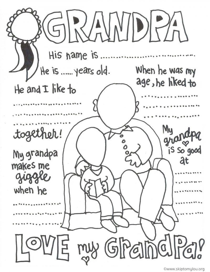 The Cutest Grandparents Day Coloring Pages | Father's Day - Free Printable Happy Fathers Day Grandpa Cards