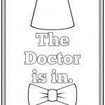 The Doctor Is In Printable Art And Coloring Page | Dodo's Birthday   Doctor Coloring Pages Free Printable