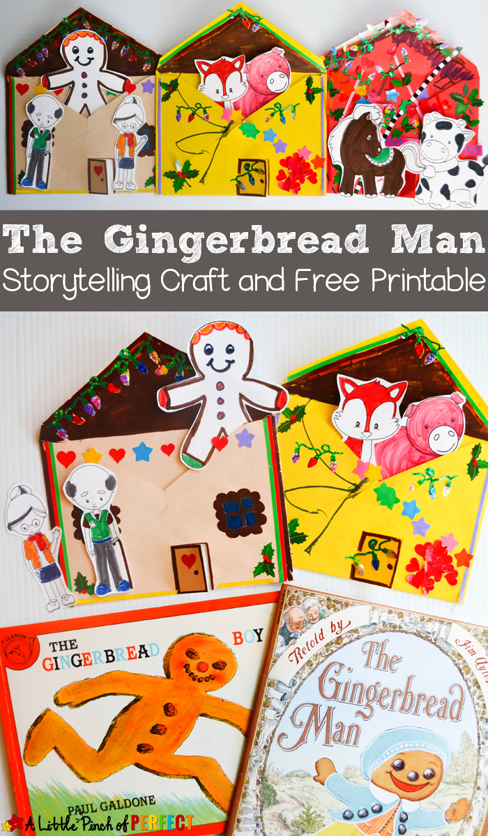 The Gingerbread Man Storytelling Craft And Free Printable - - Free Printable Gingerbread Man Activities